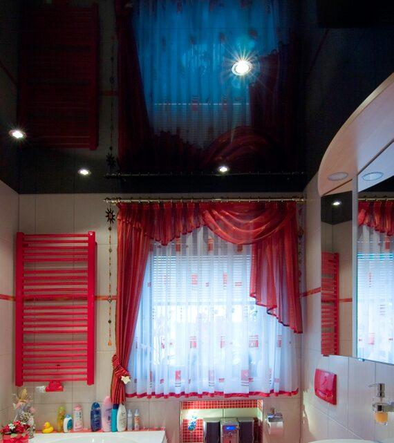Потолки натяжные для ванной комнаты дизайн