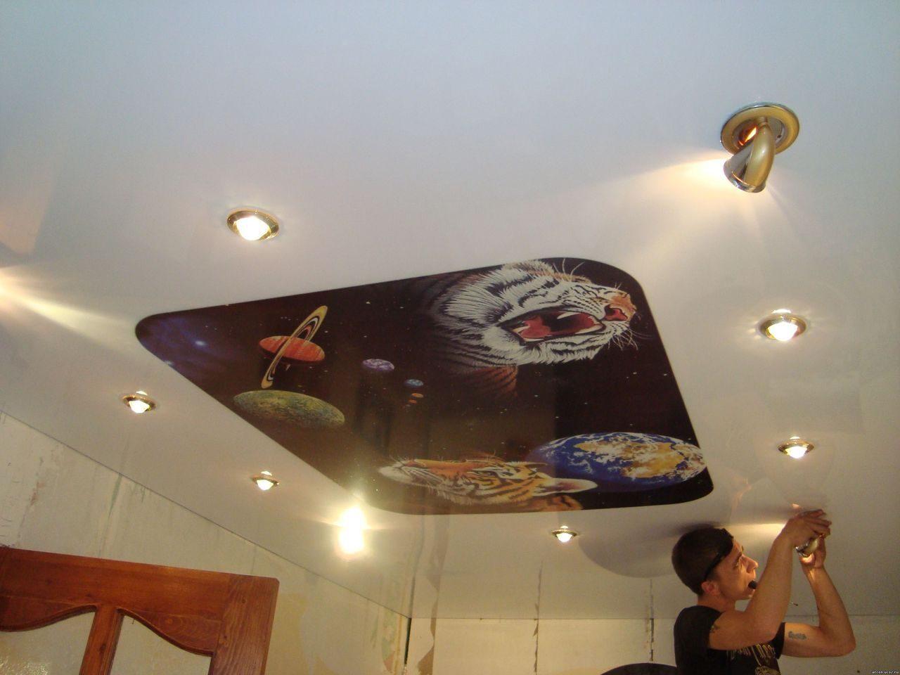 Потолок с софитами своими руками